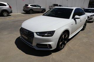 2018 Audi A4 B9 8W MY18 S Line S Tronic White 7 Speed Sports Automatic Dual Clutch Sedan.
