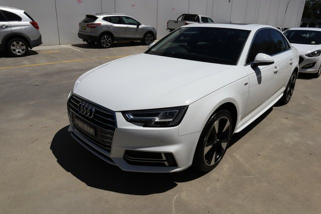 Used Audi A4 B9 8W MY18 S Line S Tronic Castle Hill, 2018 Audi A4 B9 8W MY18 S Line S Tronic White 7 Speed Sports Automatic Dual Clutch Sedan