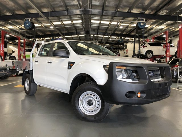 Pre-Owned Ford Ranger PX XL Oakleigh, 2014 Ford Ranger PX XL White 6 Speed Sports Automatic Cab Chassis