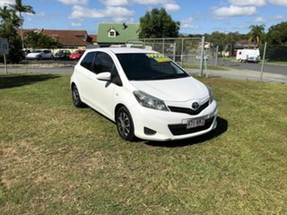 2013 Toyota Yaris NCP130R YR White 4 Speed Automatic Hatchback.