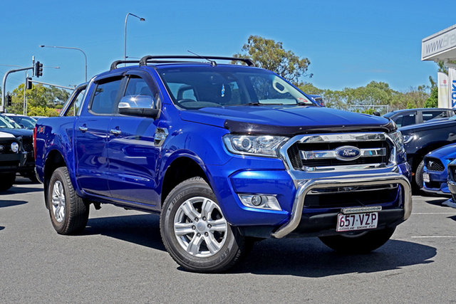 Used Ford Ranger PX MkII XLT Double Cab Ebbw Vale, 2015 Ford Ranger PX MkII XLT Double Cab Blue 6 Speed Manual Utility