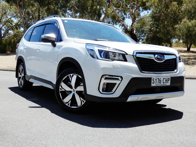 Used Subaru Forester S5 MY19 2.5i-S CVT AWD Glenelg, 2019 Subaru Forester S5 MY19 2.5i-S CVT AWD White 7 Speed Constant Variable Wagon