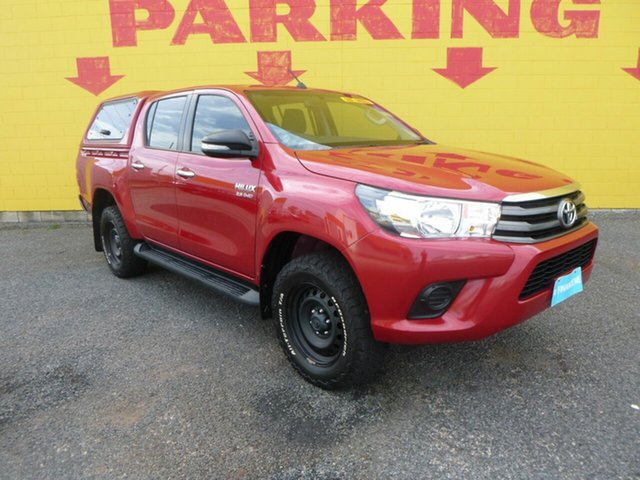 Used Toyota Hilux GUN136R SR Double Cab 4x2 Hi-Rider Winnellie, 2016 Toyota Hilux GUN136R SR Double Cab 4x2 Hi-Rider Red 6 Speed Sports Automatic Utility