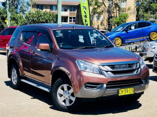 Used Isuzu MU-X MY15 LS-M Rev-Tronic 4x2 Liverpool, 2016 Isuzu MU-X MY15 LS-M Rev-Tronic 4x2 Bronze 5 Speed Sports Automatic Wagon