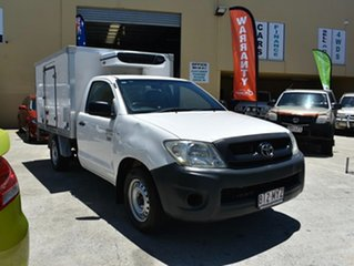 2010 Toyota Hilux TGN16R 09 Upgrade Workmate White 5 Speed Manual Cab Chassis