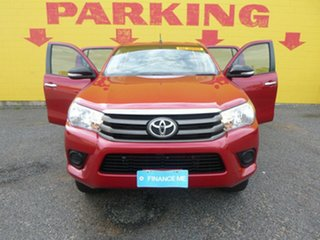 2016 Toyota Hilux GUN136R SR Double Cab 4x2 Hi-Rider Red 6 Speed Sports Automatic Utility.