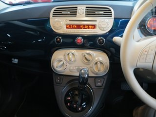 2014 Fiat 500 Series 1 Pop Dualogic Blue 5 Speed Sports Automatic Single Clutch Hatchback
