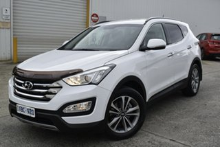 2014 Hyundai Santa Fe DM MY14 Elite White 6 Speed Sports Automatic Wagon.