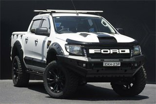 2011 Ford Ranger PX XL Hi-Rider White 6 Speed Sports Automatic Cab Chassis.