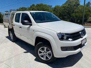 2016 Volkswagen Amarok 2H MY16 TDI420 4MOTION Perm Core White 8 Speed Automatic Cab Chassis.