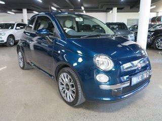 2014 Fiat 500 Series 1 Pop Dualogic Blue 5 Speed Sports Automatic Single Clutch Hatchback.