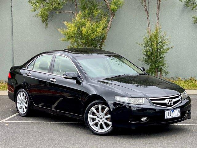 Used Honda Accord Euro CL MY2006 Luxury Templestowe, 2006 Honda Accord Euro CL MY2006 Luxury Black 5 Speed Automatic Sedan