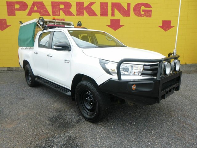 Used Toyota Hilux GUN126R SR5 Double Cab Winnellie, 2016 Toyota Hilux GUN126R SR5 Double Cab White 6 Speed Sports Automatic Utility