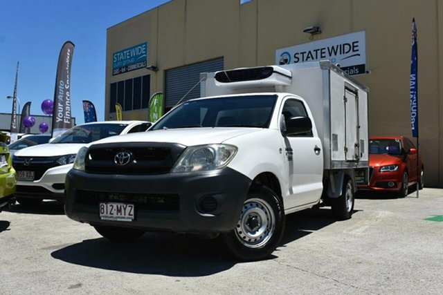Used Toyota Hilux TGN16R 09 Upgrade Workmate Capalaba, 2010 Toyota Hilux TGN16R 09 Upgrade Workmate White 5 Speed Manual Cab Chassis