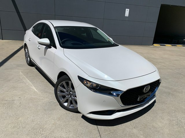 New Mazda 3 BP2S7A G20 SKYACTIV-Drive Touring Alexandria, 2020 Mazda 3 BP2S7A G20 SKYACTIV-Drive Touring Snowflake White 6 Speed Sports Automatic Sedan