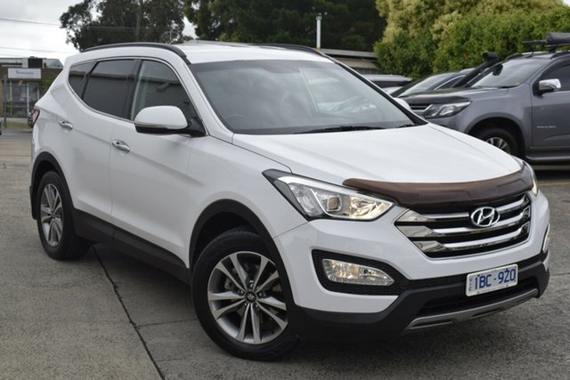 Used Hyundai Santa Fe DM MY14 Elite Ferntree Gully, 2014 Hyundai Santa Fe DM MY14 Elite White 6 Speed Sports Automatic Wagon