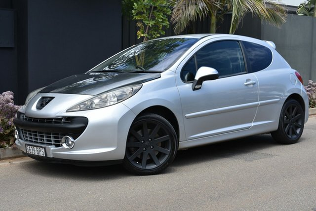 Used Peugeot 207 A7 GTi Brighton, 2007 Peugeot 207 A7 GTi Silver 5 Speed Manual Hatchback