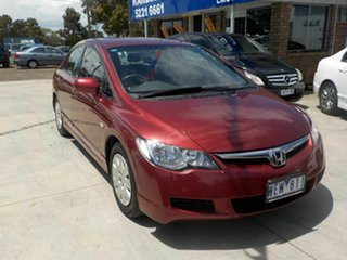 2007 Honda Civic MY07 VTi Red 5 Speed Automatic Sedan.