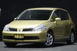 2006 Nissan Tiida C11 ST-L Yellow 4 Speed Automatic Hatchback.