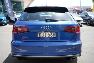 2015 Audi S3 8V MY15 2.0 TFSI Quattro Sepang Blue 6 Speed Direct Shift Hatchback