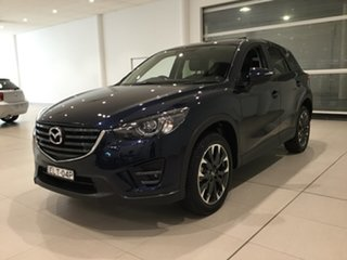 2015 Mazda CX-5 KE1032 Grand Touring SKYACTIV-Drive AWD Blue 6 Speed Sports Automatic Wagon