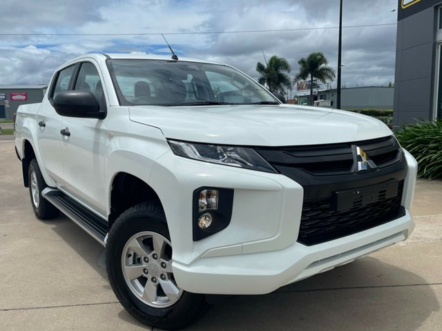 Used Mitsubishi Triton MR MY19 GLX+ Double Cab Townsville, 2019 Mitsubishi Triton MR MY19 GLX+ Double Cab White 6 Speed Manual Utility