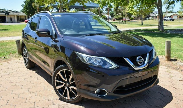Used Nissan Qashqai J11 TI Ingle Farm, 2014 Nissan Qashqai J11 TI Black 6 Speed Manual Wagon