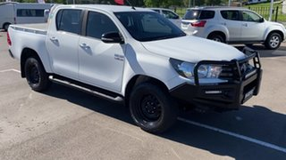 2015 Toyota Hilux GUN126R SR Double Cab White 6 Speed Manual Utility.