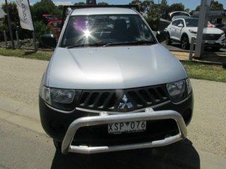 2008 Mitsubishi Triton ML MY08 GLX Silver 4 Speed Automatic Cab Chassis.