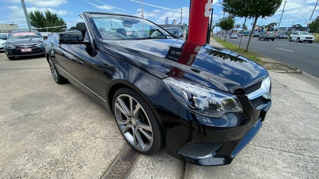 Used Mercedes-Benz E-Class A207 MY13 E400 7G-Tronic + Maidstone, 2013 Mercedes-Benz E-Class A207 MY13 E400 7G-Tronic + Black 7 Speed Sports Automatic Cabriolet