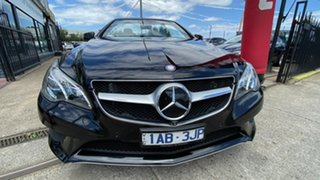 2013 Mercedes-Benz E-Class A207 MY13 E400 7G-Tronic + Black 7 Speed Sports Automatic Cabriolet.