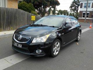 2012 Holden Cruze JH MY12 SRi V Black 6 Speed Automatic Hatchback.