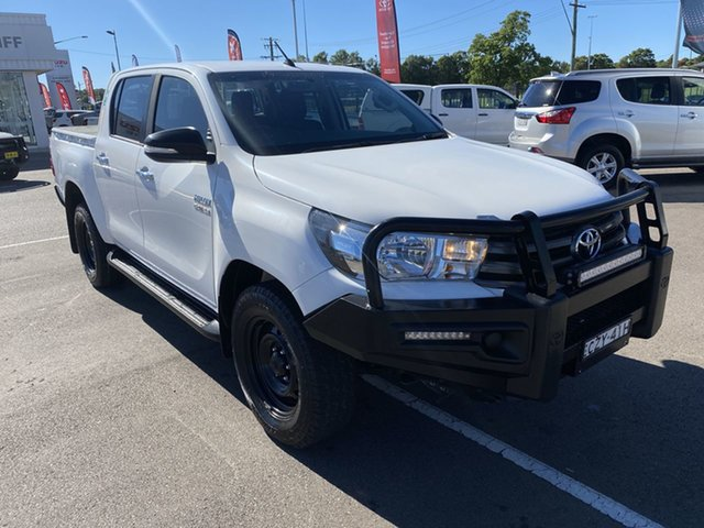 Pre-Owned Toyota Hilux GUN126R SR Double Cab Cardiff, 2015 Toyota Hilux GUN126R SR Double Cab White 6 Speed Manual Utility
