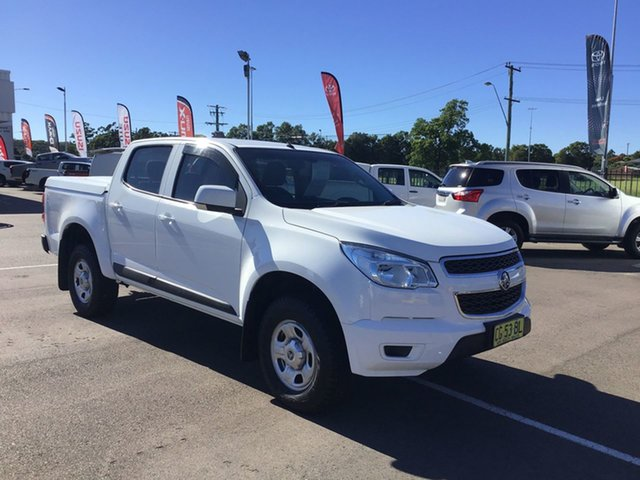 Pre-Owned Holden Colorado RG MY15 LS Crew Cab Cardiff, 2015 Holden Colorado RG MY15 LS Crew Cab White 6 Speed Sports Automatic Utility
