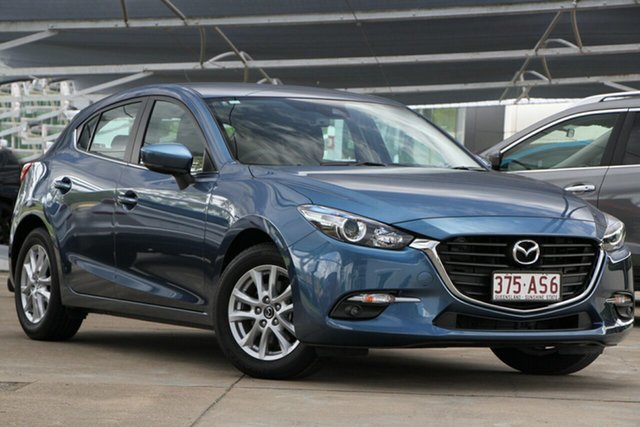 Used Mazda 3 BN5478 Maxx SKYACTIV-Drive Sport Bundamba, 2018 Mazda 3 BN5478 Maxx SKYACTIV-Drive Sport Eternal Blue 6 Speed Sports Automatic Hatchback