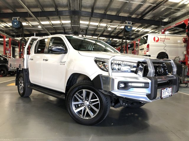 Pre-Owned Toyota Hilux GUN126R SR5 Double Cab Oakleigh, 2020 Toyota Hilux GUN126R SR5 Double Cab White 6 Speed Sports Automatic Utility