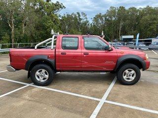2008 Nissan Navara D22 ST-R (4x4) Red 5 Speed Manual Dual Cab Pick-up.