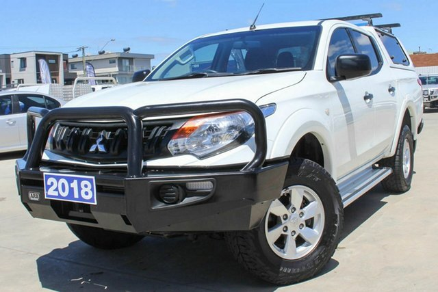 Used Mitsubishi Triton MQ MY18 GLX+ Double Cab Coburg North, 2018 Mitsubishi Triton MQ MY18 GLX+ Double Cab White 5 Speed Sports Automatic Utility
