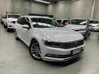 2018 Volkswagen Passat 3C (B8) MY18 132TSI DSG Comfortline White 7 Speed.