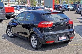 2014 Kia Rio UB MY14 S Black 6 Speed Manual Hatchback.