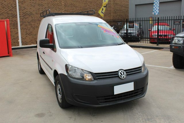 Used Volkswagen Caddy 2K MY11 TDI250 Hoppers Crossing, 2010 Volkswagen Caddy 2K MY11 TDI250 White 5 Speed Manual Van