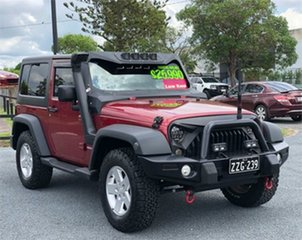 2011 Jeep Wrangler JK Sport Red & Black 6 Speed Manual Softtop.