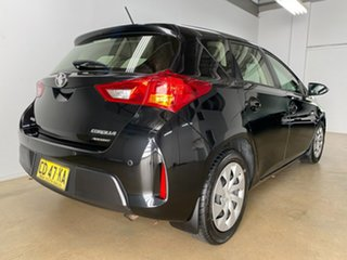 2015 Toyota Corolla ZRE182R Ascent Black 7 Speed CVT Auto Sequential Hatchback.