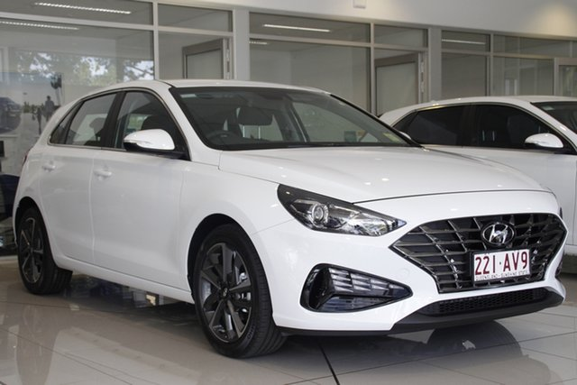 Demo Hyundai i30 PD.V4 MY21 Active Toowoomba, 2020 Hyundai i30 PD.V4 MY21 Active Polar White 6 Speed Sports Automatic Hatchback