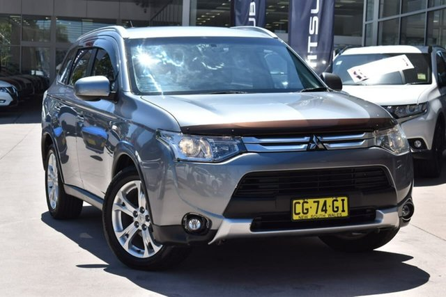Used Mitsubishi Outlander ZJ MY14.5 ES 4WD Blacktown, 2014 Mitsubishi Outlander ZJ MY14.5 ES 4WD Grey 6 Speed Constant Variable Wagon