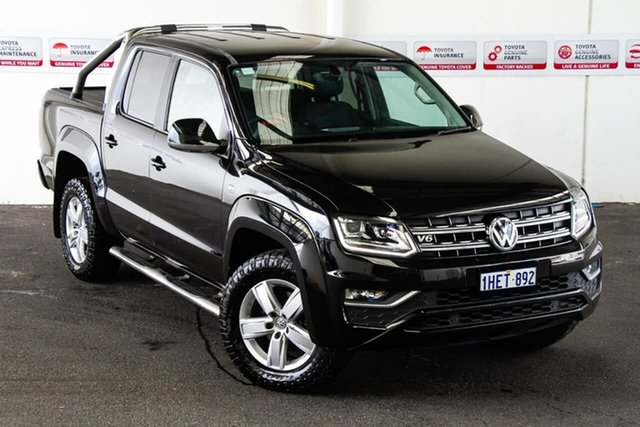 Pre-Owned Volkswagen Amarok 2H MY18 V6 TDI 550 Highline Rockingham, 2017 Volkswagen Amarok 2H MY18 V6 TDI 550 Highline Black 8 Speed Automatic Dual Cab Utility