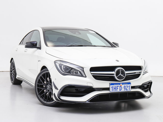 Used Mercedes-AMG CLA45 117 MY17 4Matic, 2017 Mercedes-AMG CLA45 117 MY17 4Matic White 7 Speed Automatic Coupe