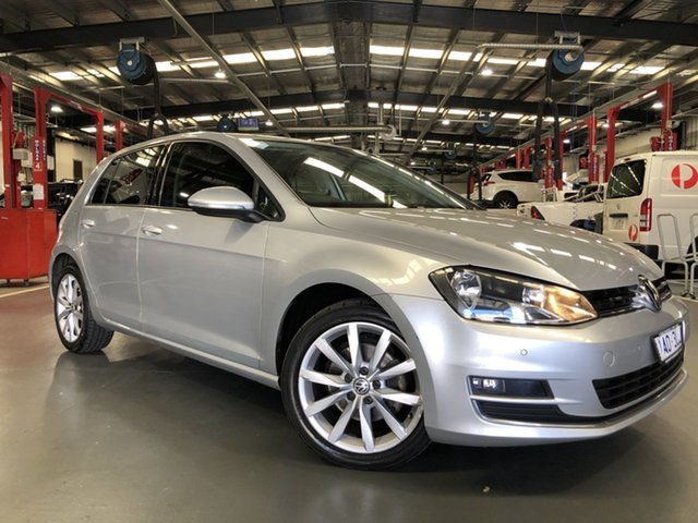 Pre-Owned Volkswagen Golf VII 110TDI DSG Highline Oakleigh, 2013 Volkswagen Golf VII 110TDI DSG Highline Silver 6 Speed Sports Automatic Dual Clutch Hatchback