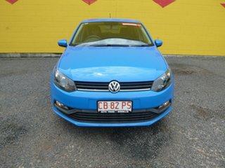 2015 Volkswagen Polo 6R MY16 66TSI Trendline Blue 5 Speed Manual Hatchback.