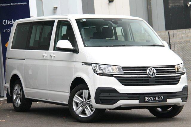 Demo Volkswagen Multivan T6.1 MY20 TDI340 SWB DSG Comfortline Premium Port Melbourne, 2020 Volkswagen Multivan T6.1 MY20 TDI340 SWB DSG Comfortline Premium White 7 Speed